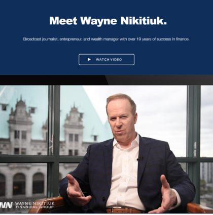 Wayne Nikitiuk Financial Group Brand & Website